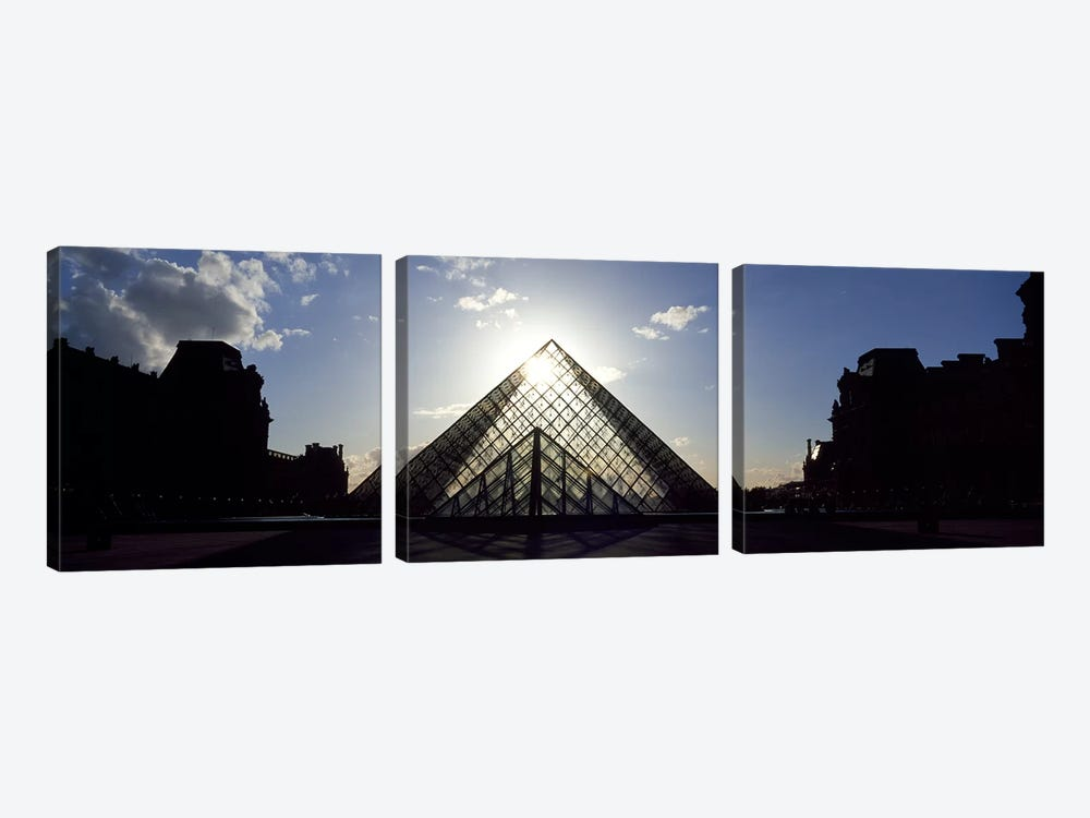 Louvre Paris France by Panoramic Images 3-piece Canvas Art