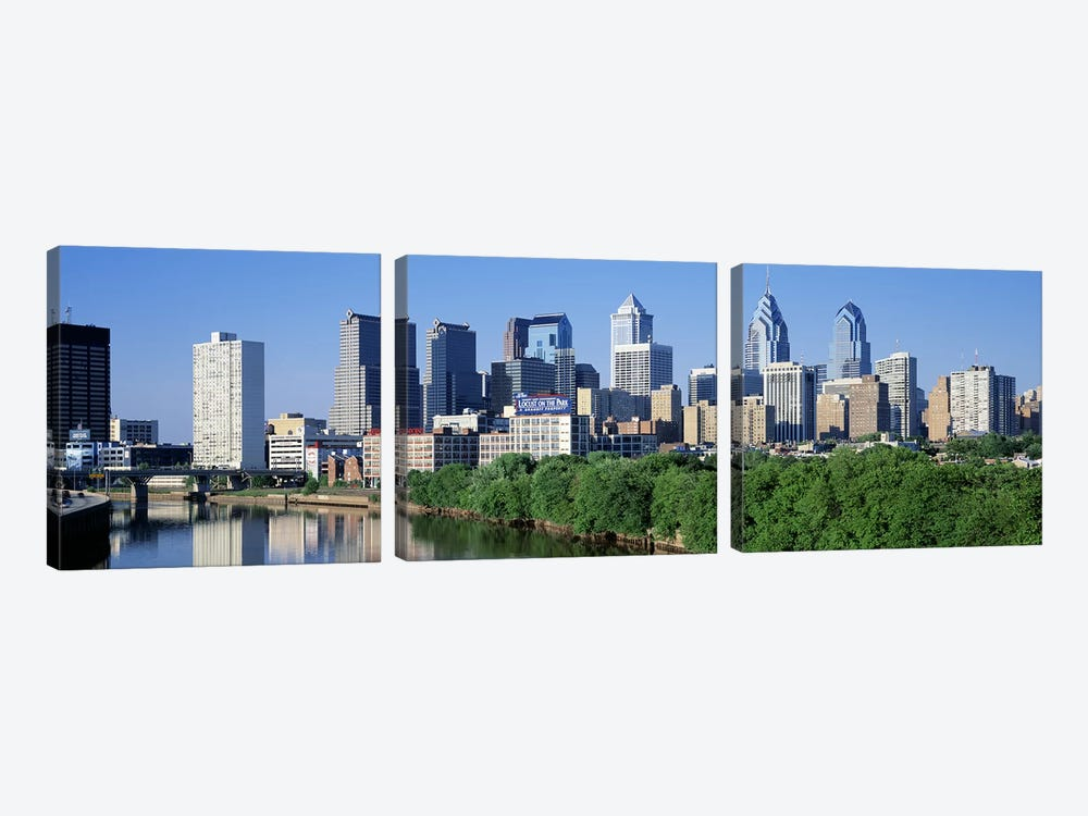 Philadelphia, Pennsylvania, USA #2 by Panoramic Images 3-piece Canvas Print