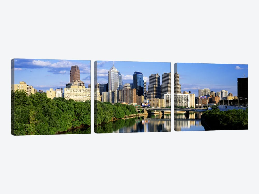 Philadelphia, Pennsylvania, USA #3 by Panoramic Images 3-piece Canvas Wall Art
