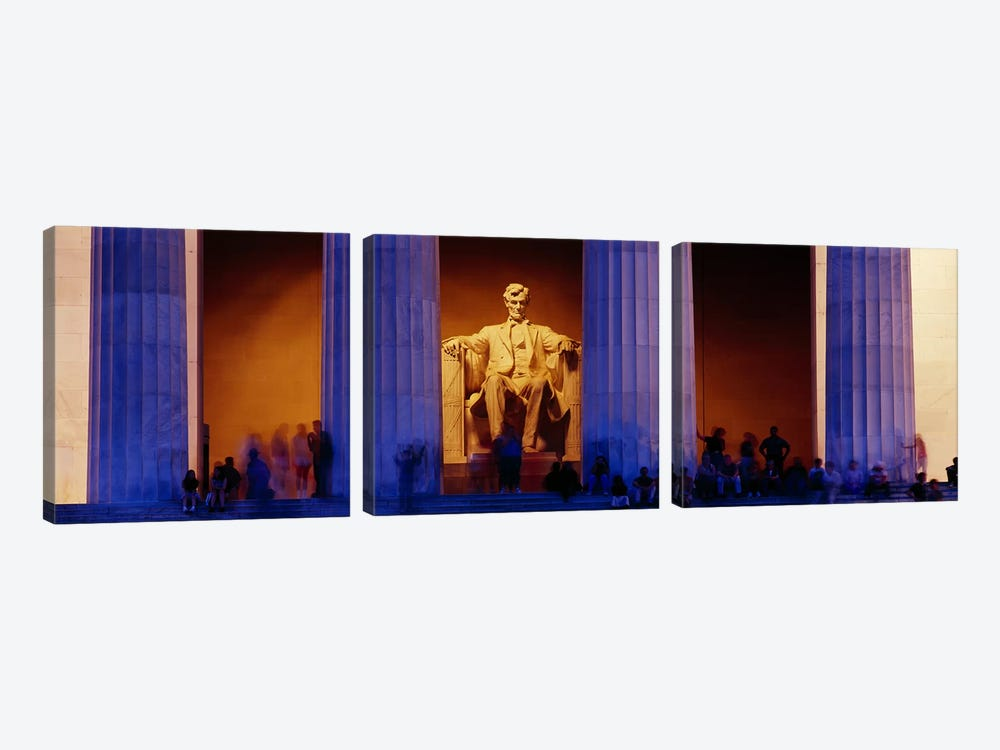 Lincoln Memorial, Washington DC, District Of Columbia, USA by Panoramic Images 3-piece Canvas Wall Art