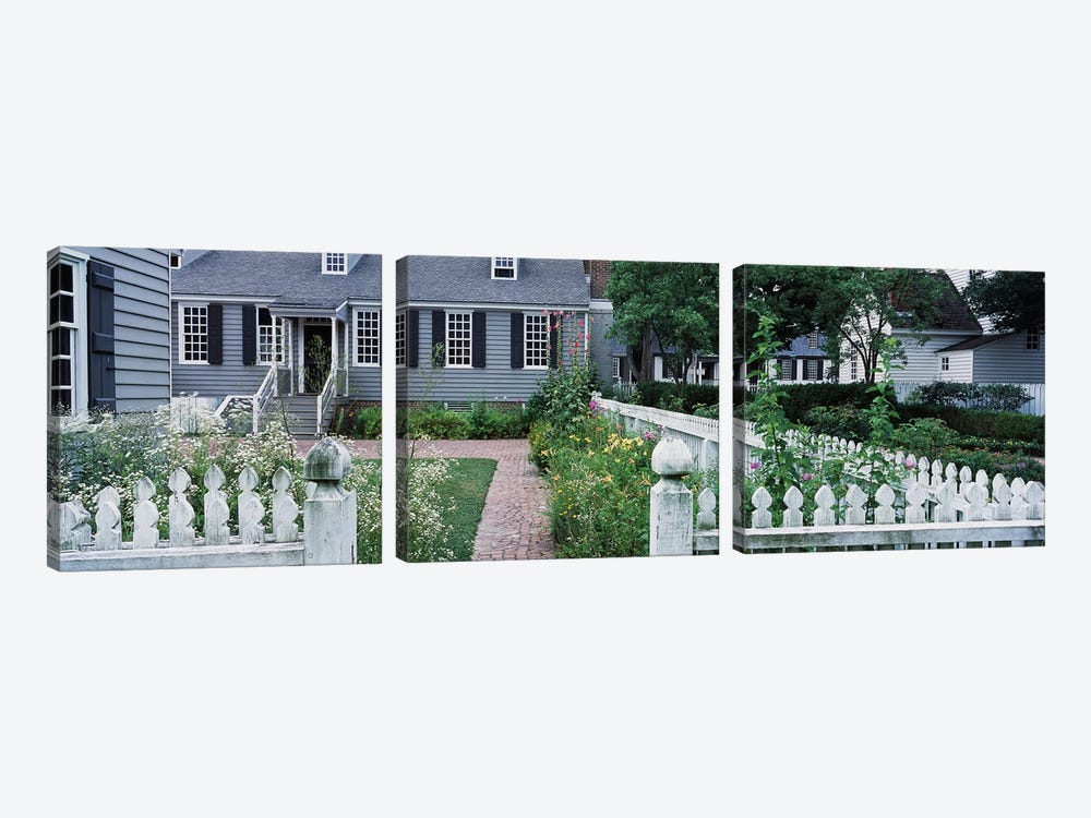 Gardens Williamsburg VA by Panoramic Images 3-piece Canvas Artwork