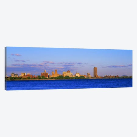 Buildings at the waterfront, Buffalo, Niagara River, Erie County, New York State, USA #2 Canvas Print #PIM3150} by Panoramic Images Canvas Art