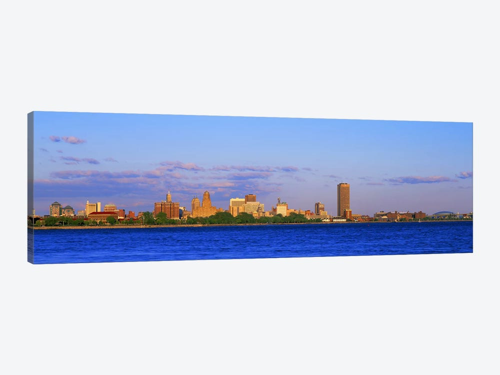 Buildings at the waterfront, Buffalo, Niagara River, Erie County, New York State, USA #2 by Panoramic Images 1-piece Canvas Art