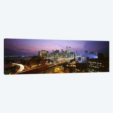 Buildings lit up at night, World Trade Center, Manhattan, New York City, New York State, USA Canvas Print #PIM3152} by Panoramic Images Canvas Artwork