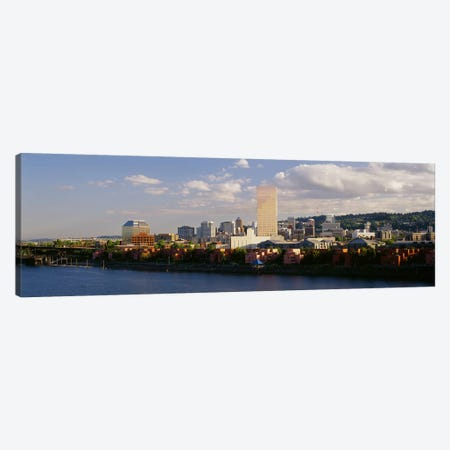Buildings on the waterfront, Portland, Oregon, USA #3 Canvas Print #PIM3154} by Panoramic Images Art Print