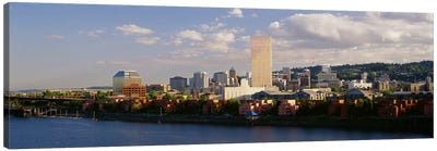 Buildings on the waterfront, Portland, Oregon, USA #3 Canvas Art Print