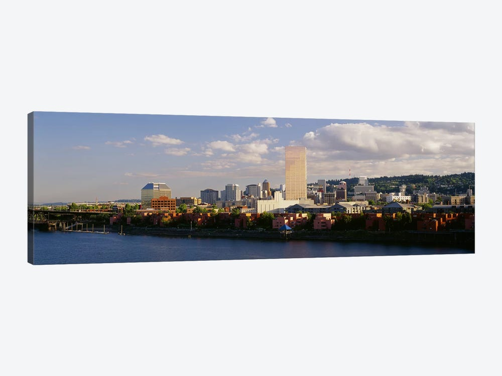 Buildings on the waterfront, Portland, Oregon, USA #3 by Panoramic Images 1-piece Canvas Artwork
