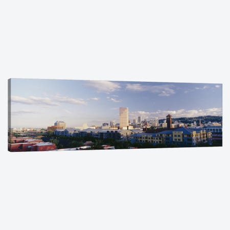 High angle view of buildings in a city, Portland, Oregon, USA Canvas Print #PIM3155} by Panoramic Images Art Print
