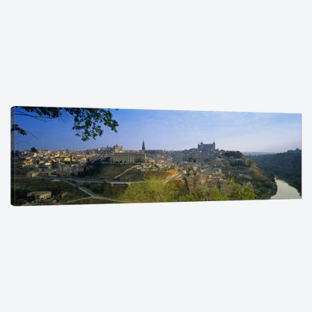 Aerial View Of The Old City, Toledo, Spain Canvas Print #PIM3157} by Panoramic Images Canvas Art Print
