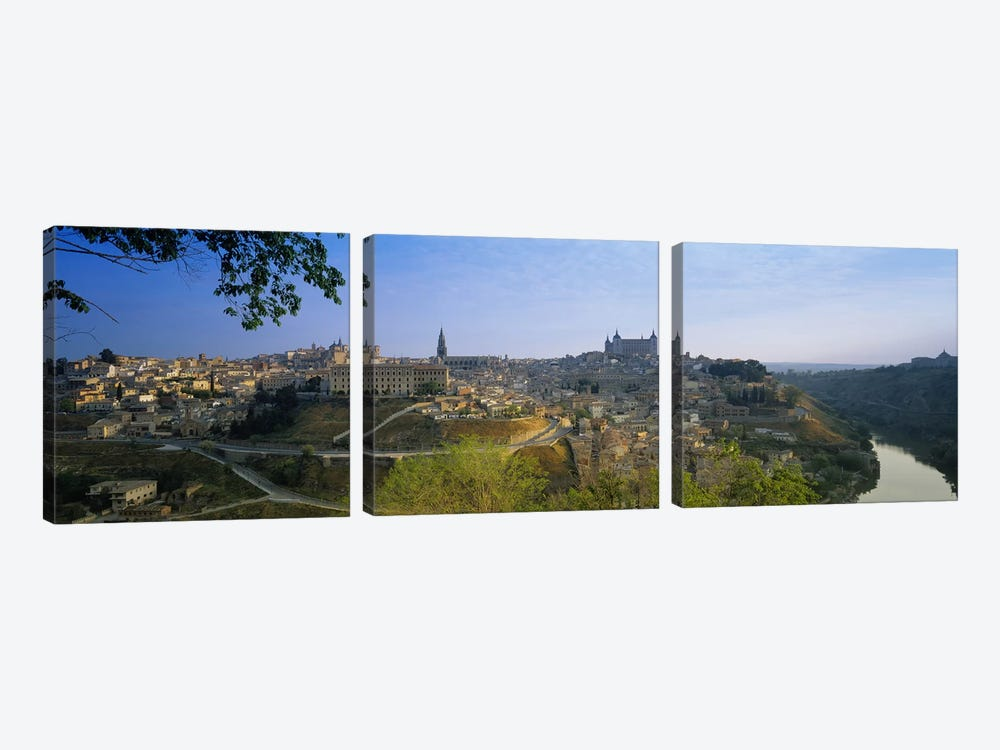 Aerial View Of The Old City, Toledo, Spain by Panoramic Images 3-piece Canvas Print