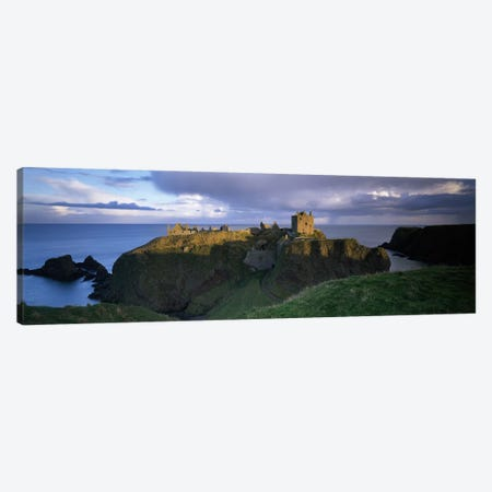 High-Angle View Of Dunnottar Castle, Near Stonehaven, Scotland, United Kingdom Canvas Print #PIM3161} by Panoramic Images Canvas Art Print