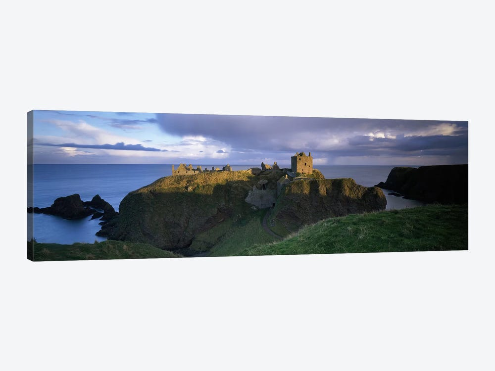 High-Angle View Of Dunnottar Castle, Near Stonehaven, Scotland, United Kingdom by Panoramic Images 1-piece Canvas Wall Art