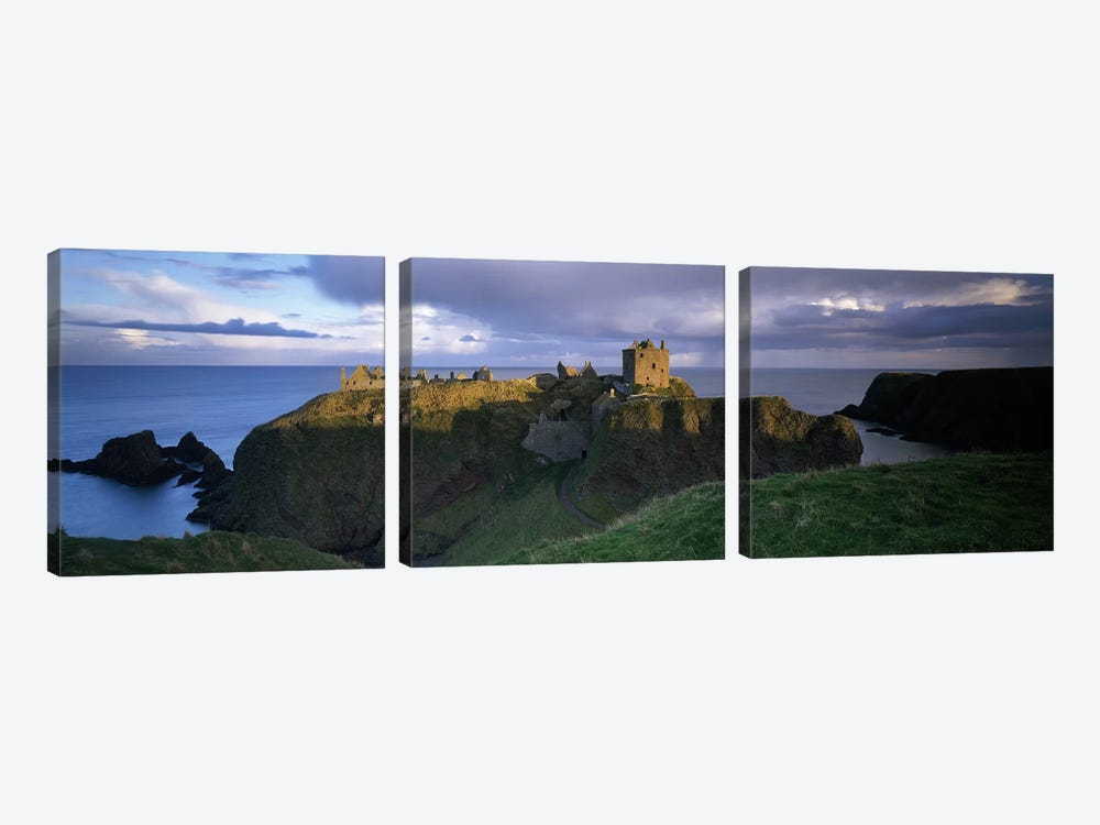 High-Angle View Of Dunnottar Castle, Near Stonehaven, Scotland, United Kingdom by Panoramic Images 3-piece Canvas Art