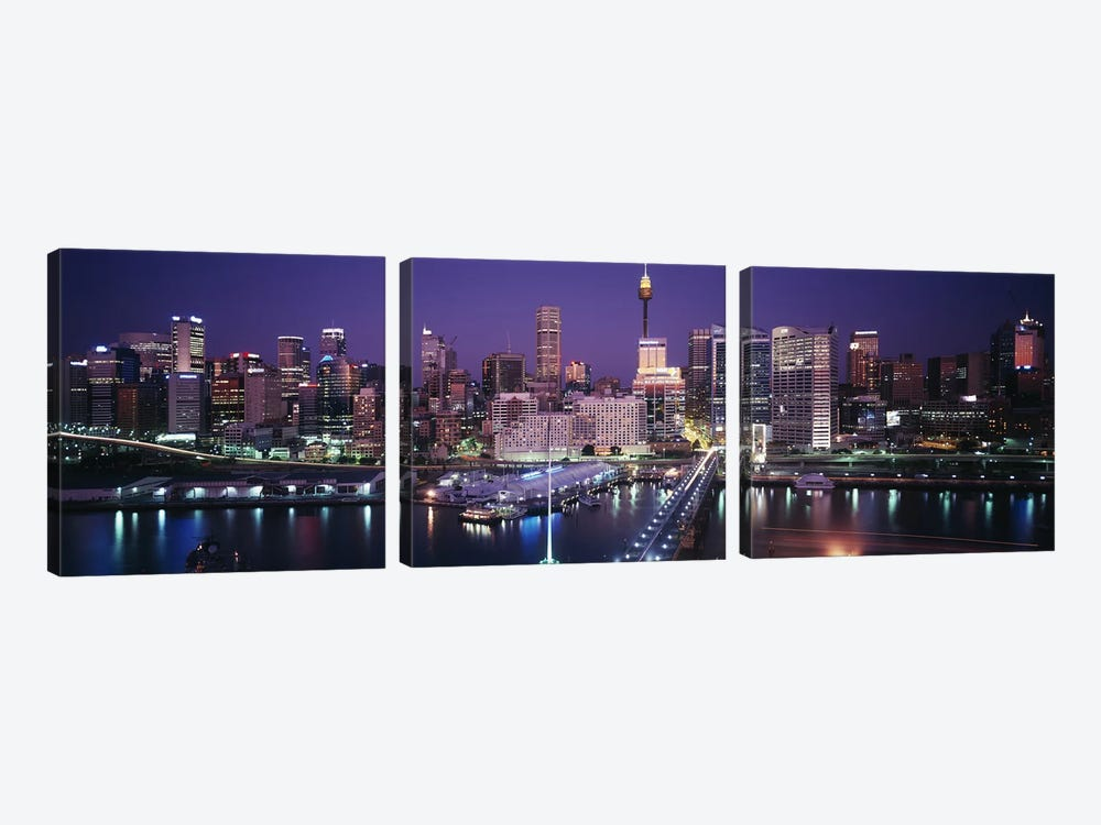 Partial View Of The Downtown Skyline, Sydney, Australia by Panoramic Images 3-piece Canvas Print