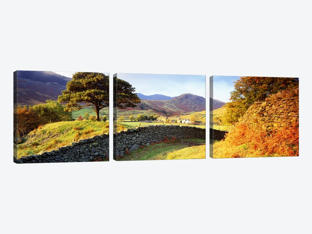 Countryside Landscape, Lake District, Cumbria County, England, United Kingdom by Panoramic Images 3-piece Canvas Wall Art