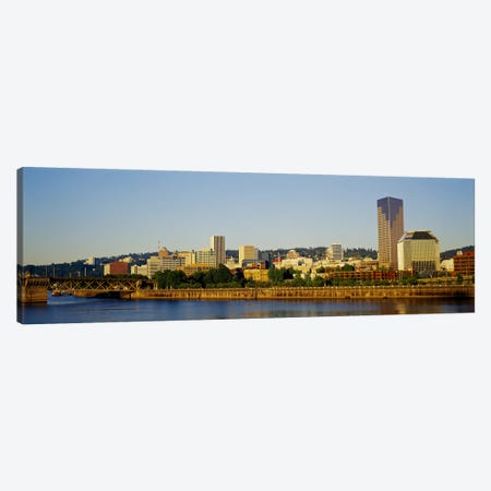 Buildings on the waterfront, Portland, Oregon, USA #4 Canvas Print #PIM3168} by Panoramic Images Art Print