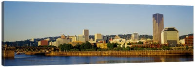 Buildings on the waterfront, Portland, Oregon, USA #4 Canvas Art Print