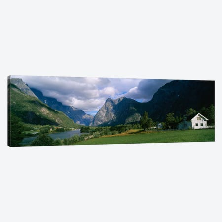 Cloudy Mountain Valley Landscape, Norway Canvas Print #PIM316} by Panoramic Images Art Print
