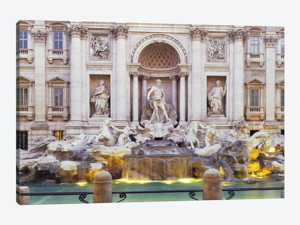 Trevi Fountain Rome Italy by Panoramic Images 1-piece Canvas Art
