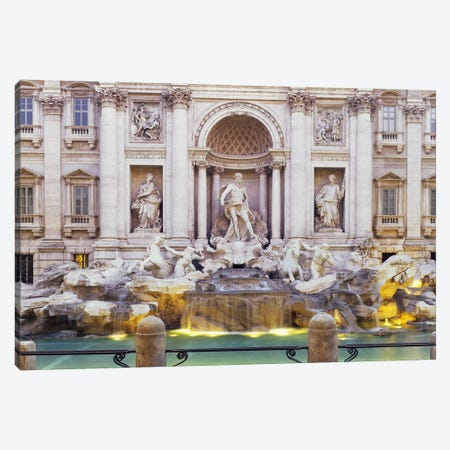 Trevi Fountain Rome Italy Canvas Print #PIM3172} by Panoramic Images Canvas Art