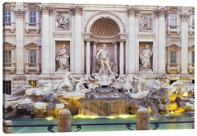 Trevi Fountain Rome Italy Canvas Art Print