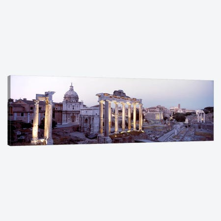 Roman Forum (Forum Romanum) At Dusk, Rome, Lazio Region, Italy Canvas Print #PIM3173} by Panoramic Images Canvas Artwork
