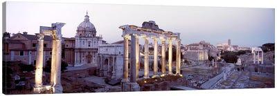 Roman Forum (Forum Romanum) At Dusk, Rome, Lazio Region, Italy Canvas Art Print