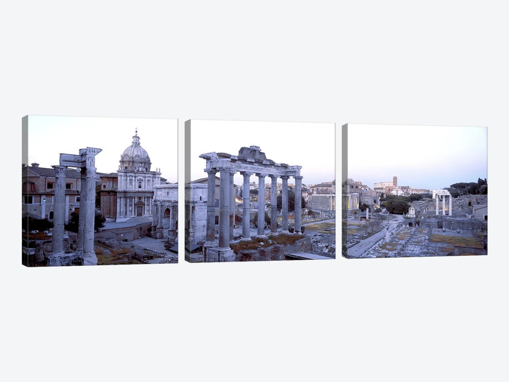 Roman Forum Rome Italy by Panoramic Images 3-piece Canvas Wall Art