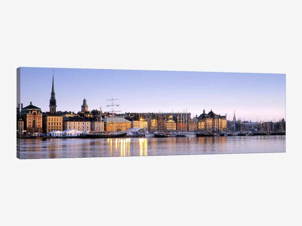 Waterfront, Skeppsbron, Old Town (Gamla stan), Stockholm, Sweden by Panoramic Images 1-piece Canvas Art Print