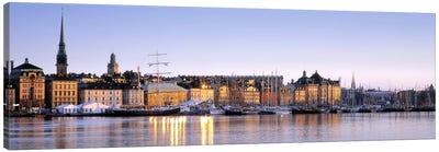 Waterfront, Skeppsbron, Old Town (Gamla stan), Stockholm, Sweden Canvas Art Print