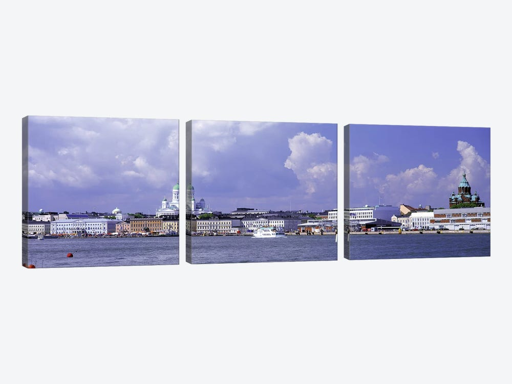 Kruununhaka & Katajanokka Neighborhoods, Helsinki, Finland by Panoramic Images 3-piece Canvas Art