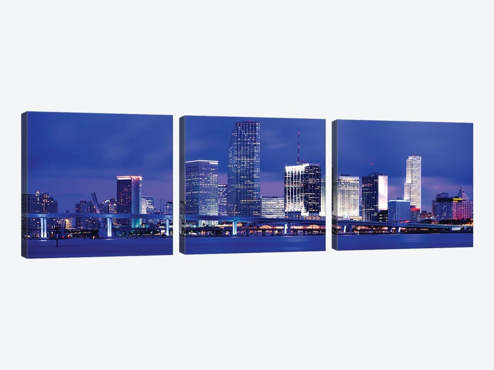 Miami, Florida, USA by Panoramic Images 3-piece Canvas Wall Art