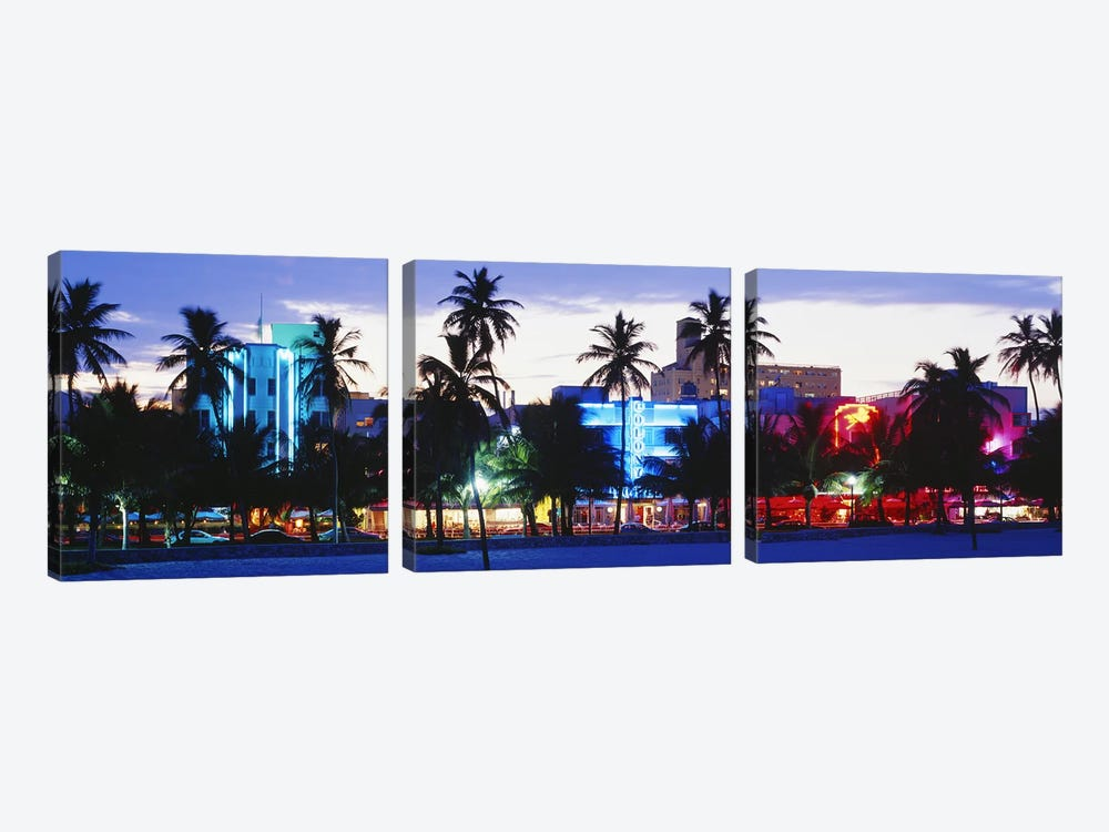 South Beach Miami Beach Florida USA by Panoramic Images 3-piece Art Print