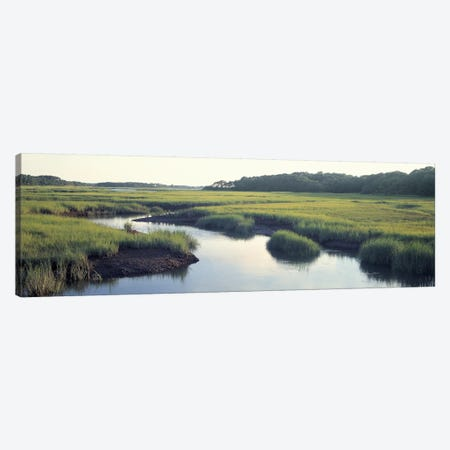 Salt Marsh Cape Cod MA USA Canvas Print #PIM3186} by Panoramic Images Canvas Wall Art