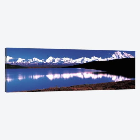 Mt. McKinley & Wonder Lake Denali National Park AK USA Canvas Print #PIM318} by Panoramic Images Canvas Wall Art