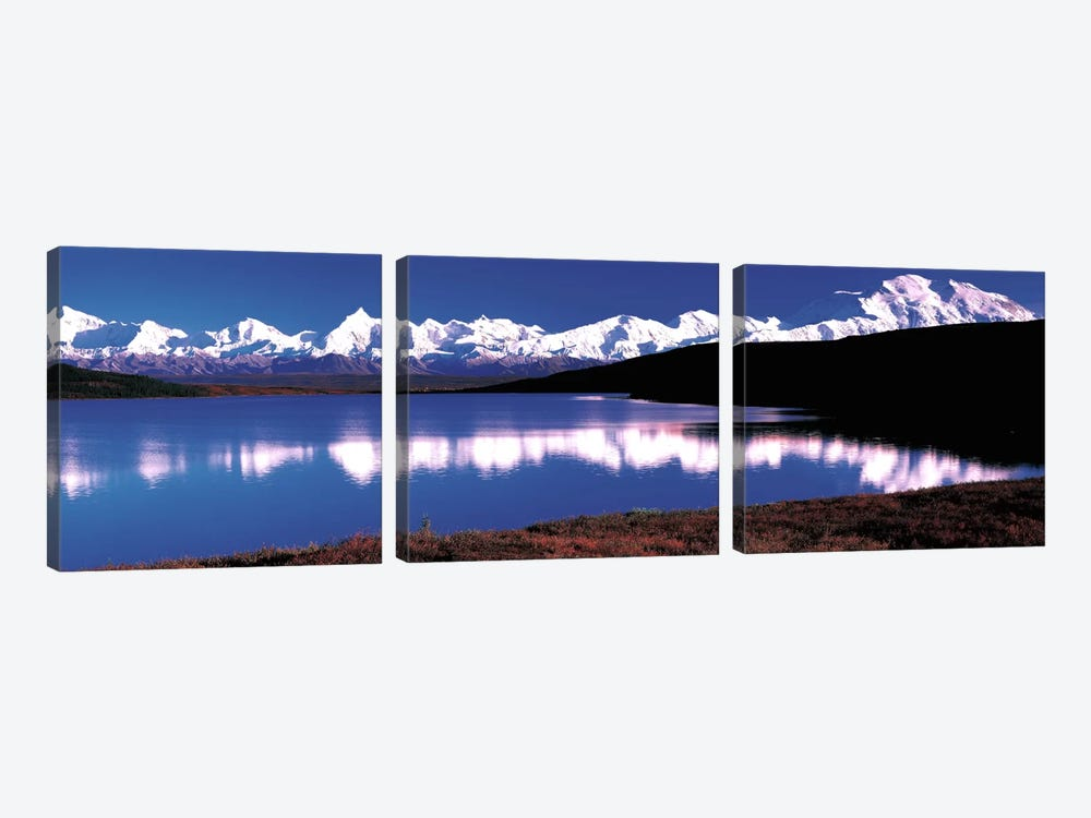 Mt. McKinley & Wonder Lake Denali National Park AK USA by Panoramic Images 3-piece Canvas Art Print