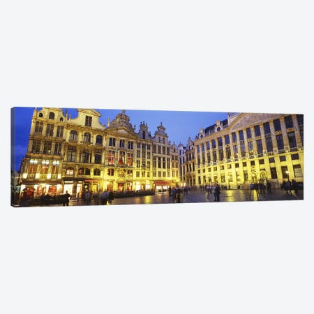 Grand Place (Grote Markt) At Night, Brussels, Belgium Canvas Print #PIM3194} by Panoramic Images Canvas Art Print