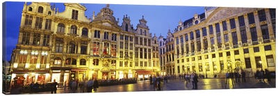 Grand Place (Grote Markt) At Night, Brussels, Belgium Canvas Art Print