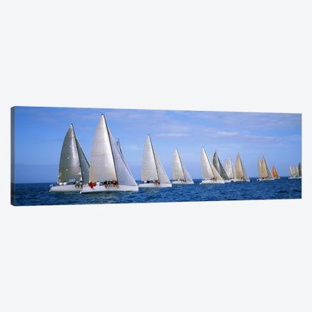 Yachts in the oceanKey West, Florida, USA Canvas Print #PIM3196} by Panoramic Images Canvas Art Print
