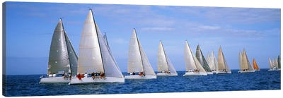 Yachts in the oceanKey West, Florida, USA Canvas Art Print