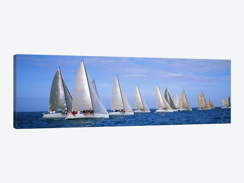Yachts in the oceanKey West, Florida, USA 1-piece Canvas Art