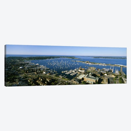 Aerial View Of Newport Harbor, Newport, Rhode Island, USA Canvas Print #PIM3199} by Panoramic Images Canvas Art