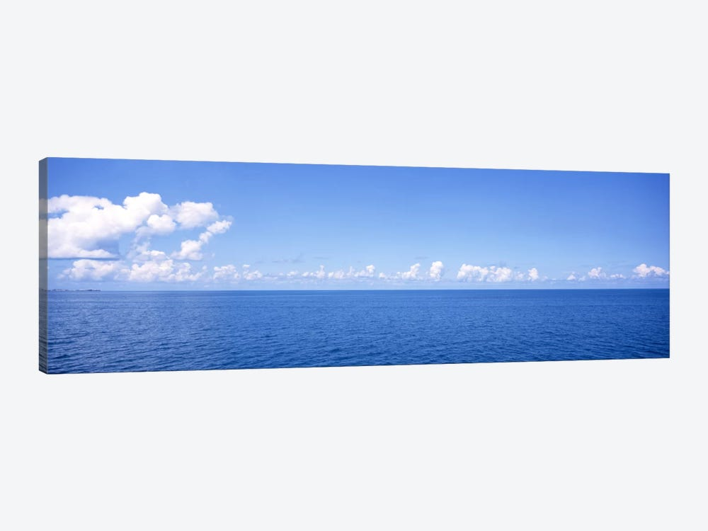 Cloudy Seascape, Atlantic Ocean, Bermuda by Panoramic Images 1-piece Canvas Wall Art