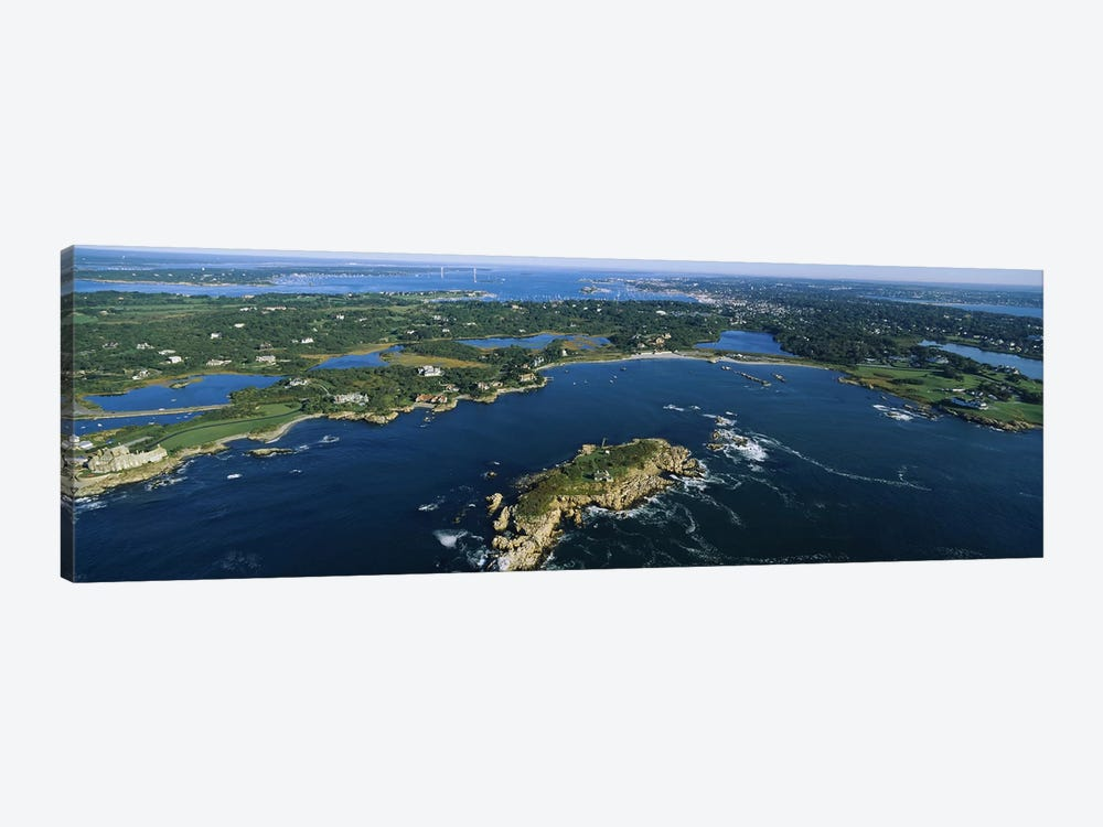 Coastal Landscape, Narraganset Bay, Rhode Island, USA by Panoramic Images 1-piece Canvas Art Print