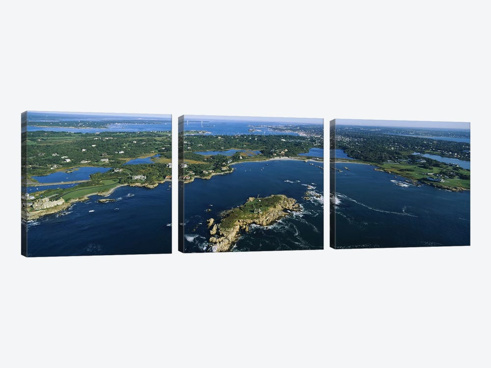 Coastal Landscape, Narraganset Bay, Rhode Island, USA by Panoramic Images 3-piece Canvas Print