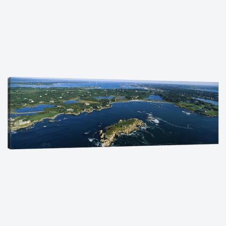 Coastal Landscape, Narraganset Bay, Rhode Island, USA 3-Piece Canvas #PIM3200} by Panoramic Images Canvas Art