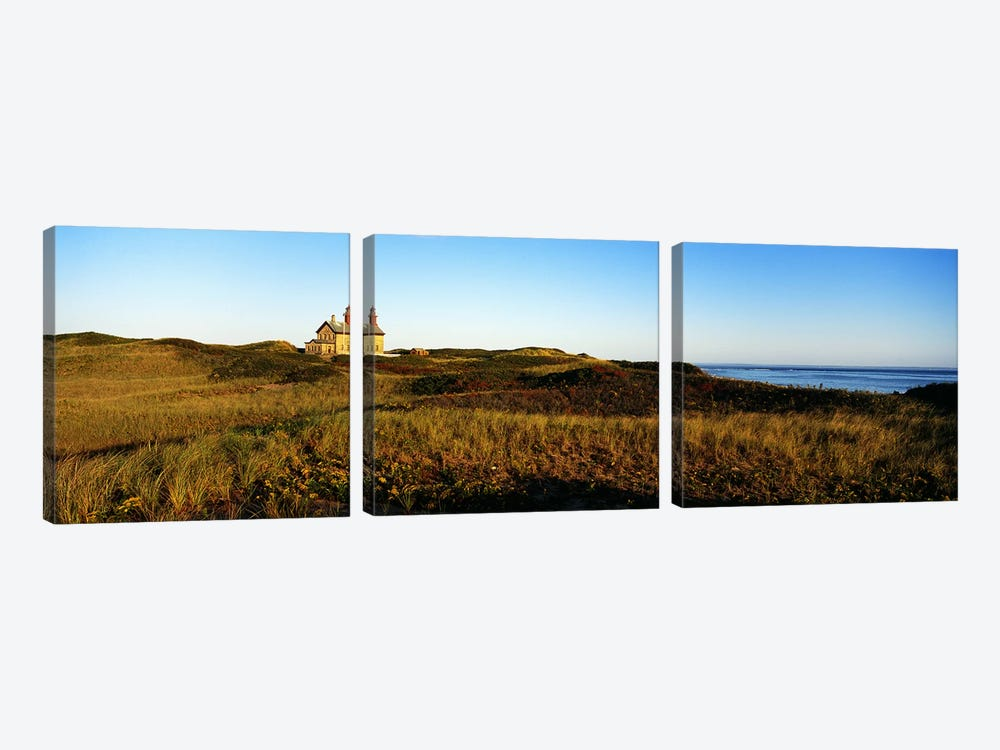Block Island Lighthouse Rhode Island USA by Panoramic Images 3-piece Canvas Wall Art