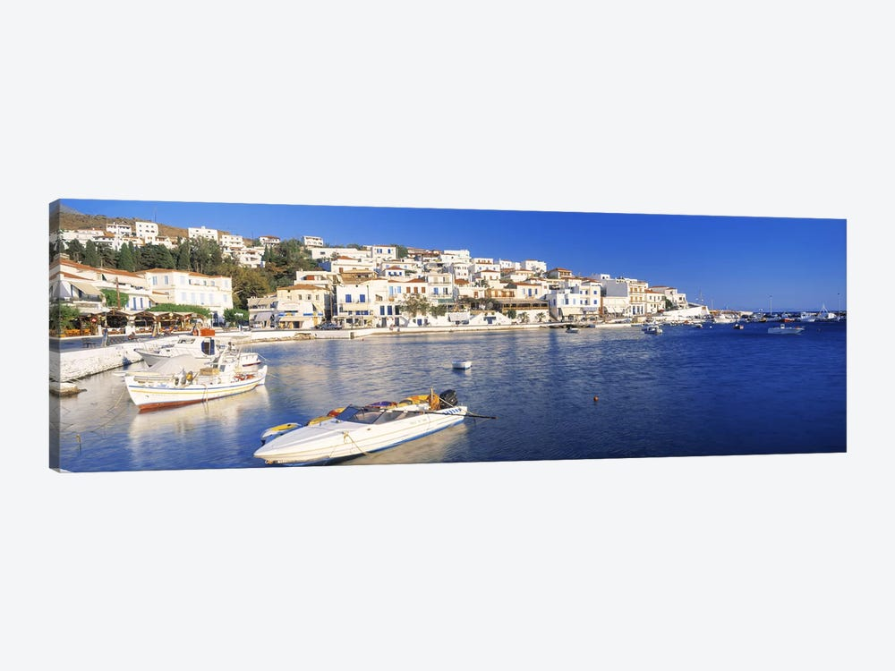 Waterfront Architecture, Batsi, Andros, Cyclades, Greece 1-piece Canvas Artwork