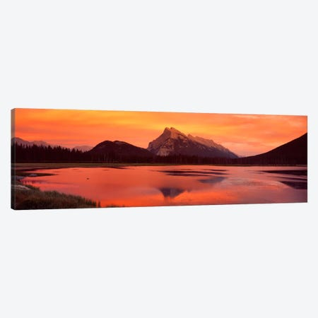Mt Rundle & Vermillion Lakes Banff National Park Alberta Canada Canvas Print #PIM320} by Panoramic Images Canvas Art Print