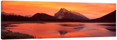 Mt Rundle & Vermillion Lakes Banff National Park Alberta Canada Canvas Print #PIM320